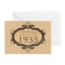 1933 Birthday Vintage (Rustic) Greeting Card