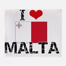I HEART MALTA FLAG Throw Blanket