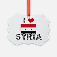 I HEART SYRIA FLAG Ornament