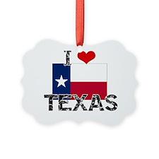 I HEART TEXAS FLAG Ornament