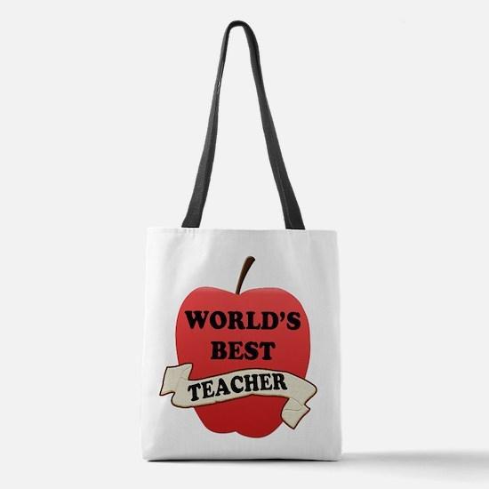 World's Best Teacher Polyester Tote Bag