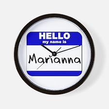 hello my name is marianna  Wall Clock
