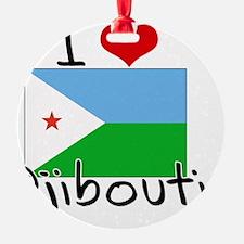 I HEART DJIBOUTI FLAG Ornament