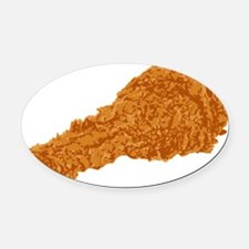 Fried Chicken Oval Car Magnet