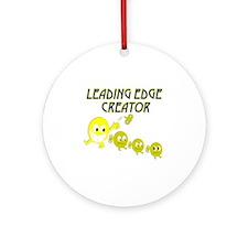 leading edge creator dk Round Ornament
