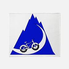 Fat Bike mountain Throw Blanket