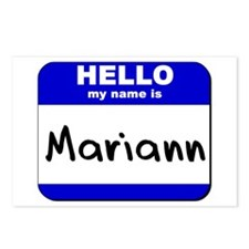 hello my name is mariann  Postcards (Package of 8)