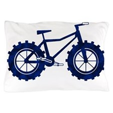 black and blue bike Pillow Case