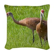 Sandhill Crane Woven Throw Pillow