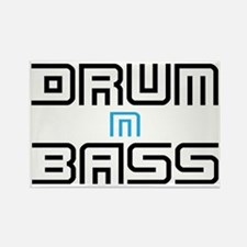 Drum N Bass Rectangle Magnet