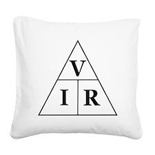 OHM's Law Triangle Square Canvas Pillow
