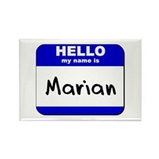 hello my name is marian Rectangle Magnet