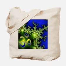 Aum Om Green Blue Yoga Namaste Tote Bag