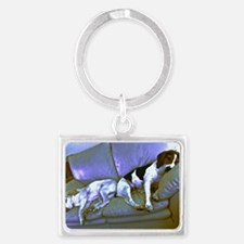hard to be a dog Landscape Keychain