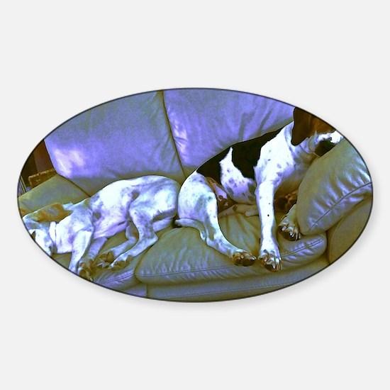 hard to be a dog Sticker (Oval)