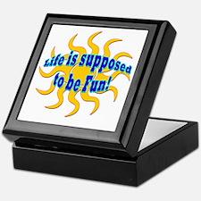 LG Life Is Supposed To Be Fun Keepsake Box