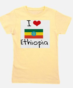 I HEART ETHIOPIA FLAG Girl's Tee