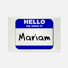 hello my name is mariam Rectangle Magnet