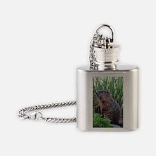 Groundhog Flask Necklace