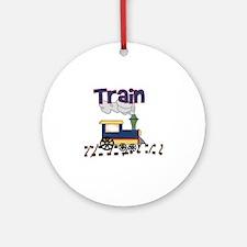 Chugga Choo Choo Train Round Ornament