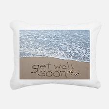 get well Rectangular Canvas Pillow