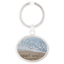 get well Oval Keychain