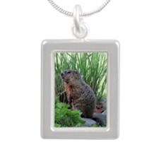Groundhog Silver Portrait Necklace
