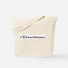 I Eat Sweet Potatoes Tote Bag