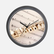 Flute and Music Wall Clock