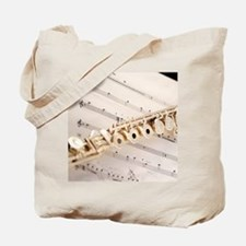 Flute and Music Tote Bag
