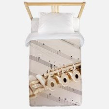 Flute and Music Twin Duvet
