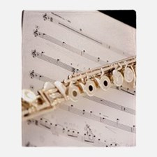 Flute and Music Throw Blanket
