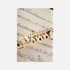 Flute and Music Rectangle Magnet