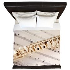 Flute and Music King Duvet