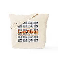 I Love Philately JFK Stamps Tote Bag