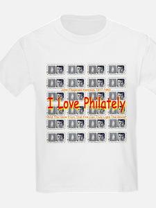 I Love Philately JFK Stamps T-Shirt