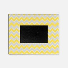 Chevron Zigzag Pattern Grey and Yell Picture Frame