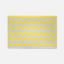 Chevron Zigzag Pattern Grey and Y Rectangle Magnet