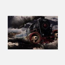 Steampunk Train Rectangle Magnet