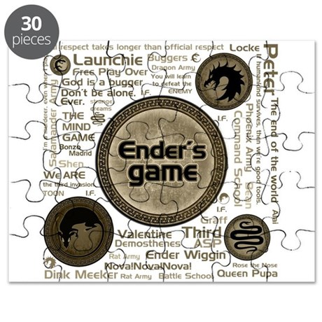 Khaki Ender's Game Collection Puzzle