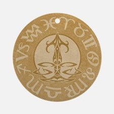 Libra Astrology Sign Symbol Ornament (Round)
