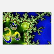 Aum Om Namaste Yoga Postcards (Package of 8)