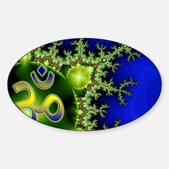 Aum Om Namaste Yoga Sticker (Oval)