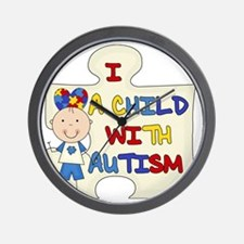 Boy A Child With Autism Wall Clock