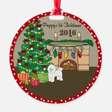 2016 Bichon Frise 1St Christmas Ornament