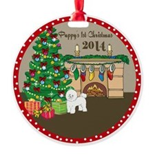 2014 Bichon Frise 1St Christmas Ornament