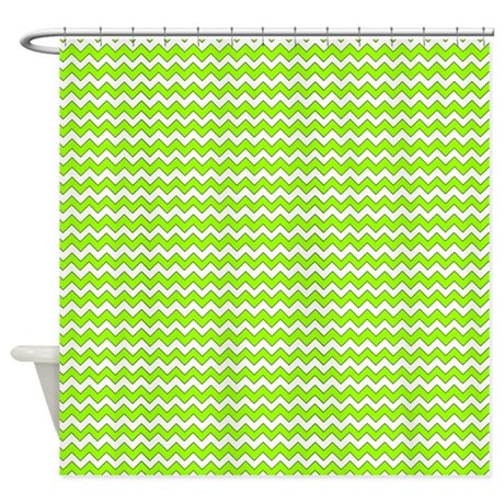chevron zigzag pattern lime green a shower curtain