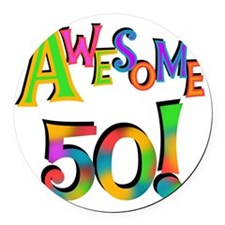 Awesome 50 Birthday Round Car Magnet
