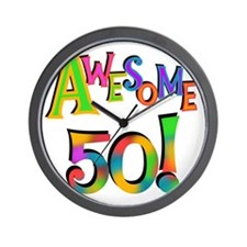 Awesome 50 Birthday Wall Clock