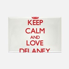 Keep calm and love Delaney Magnets